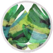 Tropical Dreams 1- Art By Linda Woods Round Beach Towel