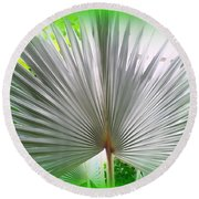 Tropical Fan Round Beach Towel