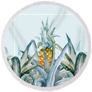 Tropical Feeling  Round Beach Towel by Mark Ashkenazi