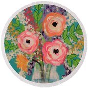 Tropical Flair Round Beach Towel