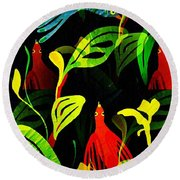 Tropical Flock Round Beach Towel
