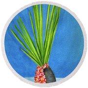 Tropical Flowers Still Life #218 Round Beach Towel