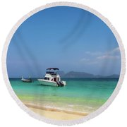 Tropical Holiday Round Beach Towel