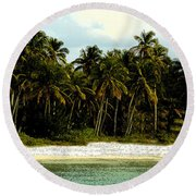 Tropical Island Round Beach Towel
