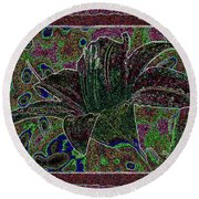 Tropical Lily 3 Round Beach Towel
