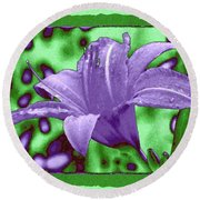 Tropical Lily 4 Round Beach Towel