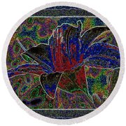 Tropical Lily 5 Round Beach Towel