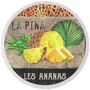 Tropical Palms 5 Round Beach Towel