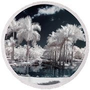 Tropical Paradise Infrared Round Beach Towel