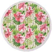 Tropical Paradise-jp3964 Round Beach Towel