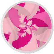 Tropical Pink Round Beach Towel