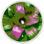 Tropical Plant Work Number 5 Round Beach Towel