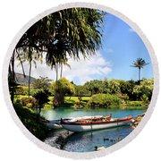 Tropical Plantation - Maui Round Beach Towel