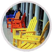 Tropical Seating Round Beach Towel