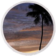 Tropical Silhouette Round Beach Towel