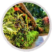 Tropical Splendor Round Beach Towel