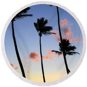 Tropical Sunrise Round Beach Towel