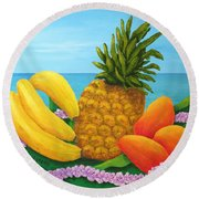 Tropical Trinity Round Beach Towel