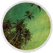 Tropical Vestige Round Beach Towel