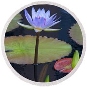 Tropical Water Colors Round Beach Towel