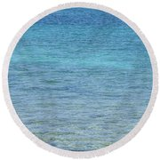 Tropical Waters Round Beach Towel