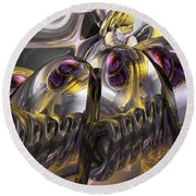 Tropical Wind Abstract Round Beach Towel