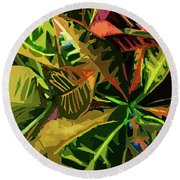 Tropicale Round Beach Towel