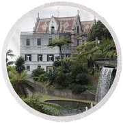 Tropican Monte Palace Garden, Madeira, Portugal. Round Beach Towel