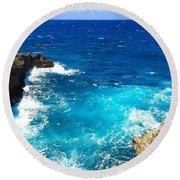 Trou Madame Coco, Grande Terre, Guadeloupe Round Beach Towel