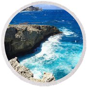 Trou Madame Coco, Guadeloupe Round Beach Towel