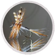 Trout Fly 2 Round Beach Towel