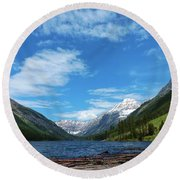 Trout Lake Round Beach Towel