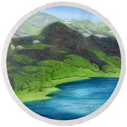 Trout Lake North Round Beach Towel