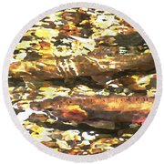Trout Stream Round Beach Towel