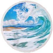 True Blue Round Beach Towel