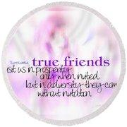 True Friends Round Beach Towel