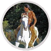 True Horsemen Round Beach Towel