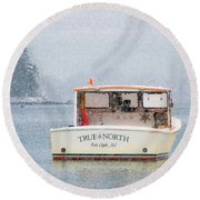 True North Round Beach Towel