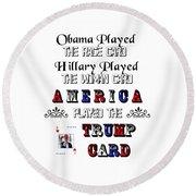 Trump Card Round Beach Towel