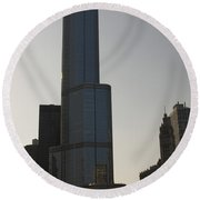 Trump International Hotel And Tower Round Beach Towel