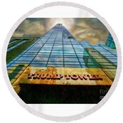 Trump Tower Round Beach Towel
