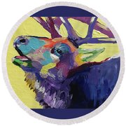 Trumpeting Round Beach Towel