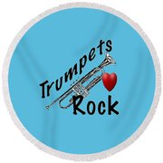 Trumpets Rock Round Beach Towel