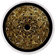 Truncated Hyper Dodecahedron Round Beach Towel