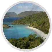 Trunk Bay Round Beach Towel