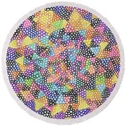 Try Angles Of Circles Round Beach Towel