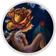 Tryst By Night    Round Beach Towel