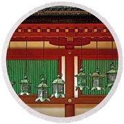 Tsuri-do-ro Or Hanging Lantern #0807-1 Round Beach Towel