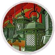 Tsuri-do-ro Or Hanging Lantern #0807-2 Round Beach Towel