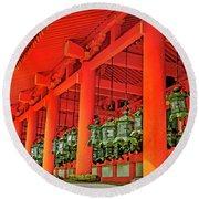 Tsuri-do-ro Or Hanging Lantern #0807-4 Round Beach Towel